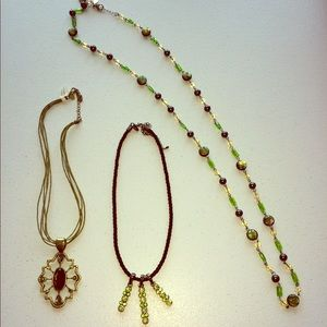 Lot of 3 lia Sophia necklaces